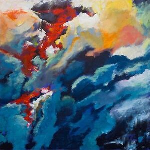 Details About Superb Original Bryony Harrison Forest Fire Ii Smokescreen Abstract Painting