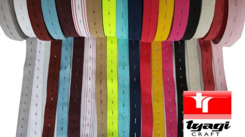 """19 mm 3//4/"""" botón Agujero Elástico Knit Woven Para Coser stretchnotion Pantalón"""