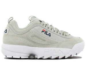 Details zu Fila Disruptor Leather S Low Damen Sneaker Schuhe Leder Grau  1010304.3JW NEU