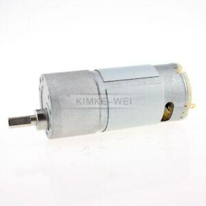 37mm 12V DC 15RPM Replacement Torque Gear Box Motor