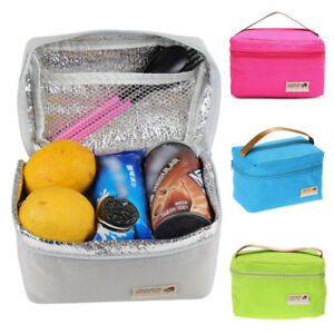 Details About Childrens Kid Lunch Bags Insulated Cool Bag Picnic School Lunchbox
