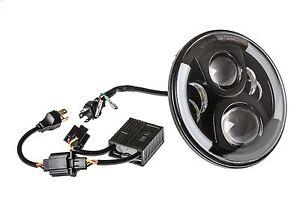 7 Zoll LED Scheinwerfer Hauptscheinwer<wbr/>fer Schwarz mit für Jeep Mercedes Ford