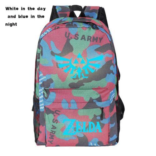 2019 The Legend of Zelda Unisex Fashion Backpack SchoolBag Luminous Bookbag Gift