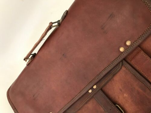 Men Genuine Vintage Leather Satchel Messenger Man HandBag Laptop Briefcase Bag