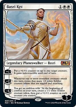 1 BASRI KET w//Emblem ~mtg NM-M M21 Magic 2021 Mythic x1