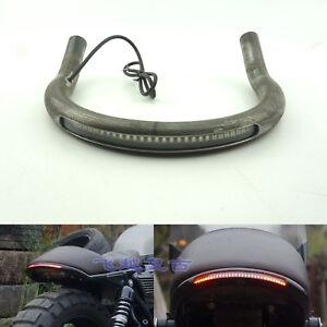 Cafe-Racer-Upswept-Seat-Frame-Hoop-Loop-with-LED-Brake-Turn-Tail-Light-for-Honda