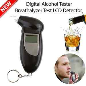 Digital Alcohol Breath Tester Breathalyzer Analyzer Detector Test Keychain HI