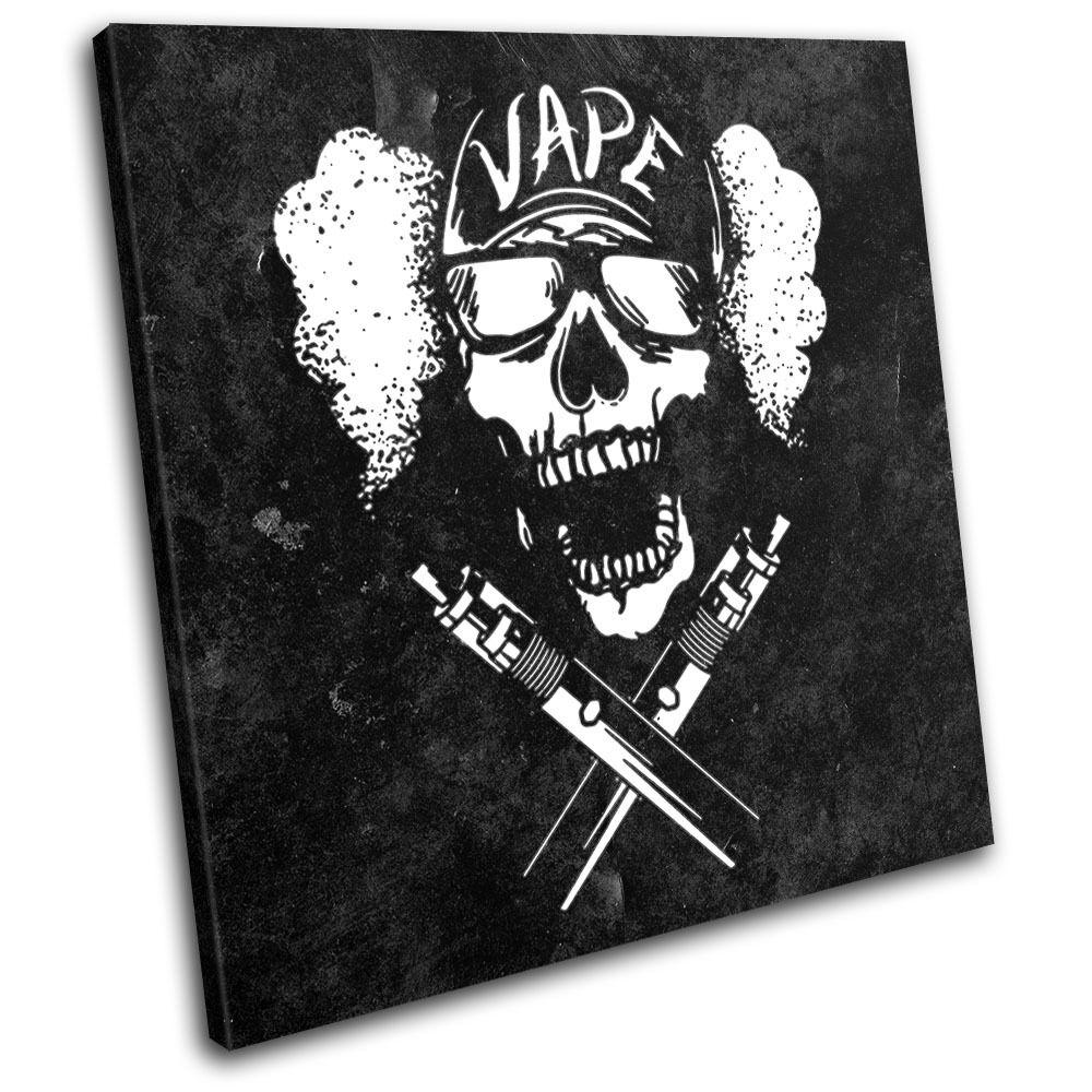 Skull Vape Illustration SINGLE TOILE murale ART Photo Print