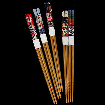 5 Pairs Eco-friendly Cat Chopsticks Japanese Wood Lacquer Gift Reusable Cutlery