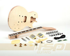 12 String Solid Body Mahogany DIY Electric Guitar Builder Kit Flamed Maple