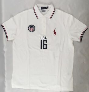 Image is loading Ralph-Lauren-Men-039-s-Polo-USA-Number-