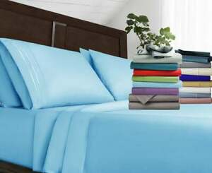 Luxury Bed Sheet Set 1800 Count Egyptian Comfort 4 Piece Deep Pocket Bed Sheets