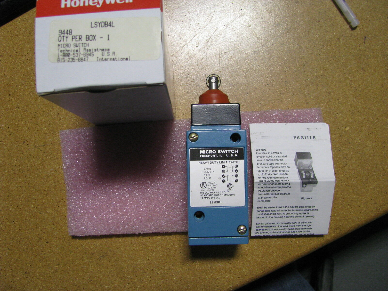 Honeywell Lsydb4l Microswitch Micro Limit Switch Ebay Open Close Wiring Diagram Norton Secured Powered By Verisign