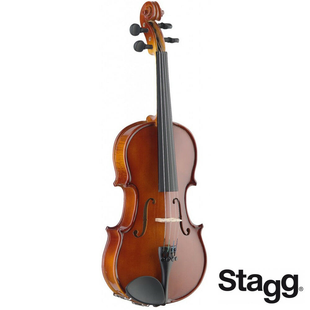 NEW Stagg VN-3 4-EF Solid Maple 3 4 Size Violin Ensemble with Ebony Fingerboard
