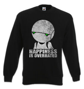 Android Felpa Robot Fun Depressione Robot Felicità Overrated Is Pullover ExHW8q