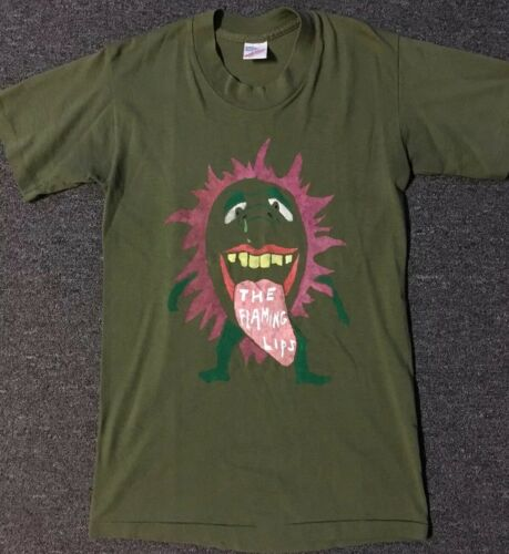 Vtg 80s Flaming Lips Shirt S Sonic Youth Butthole