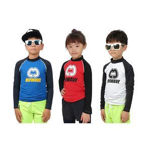 Mowave kids boys girls raglan rash guard swim wear long Rash guard shirts kids