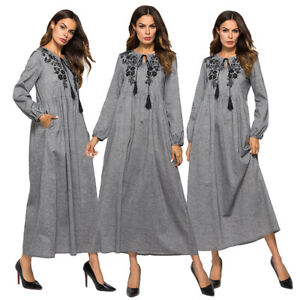 Muslim-Women-Long-Sleeve-Embroidery-Maxi-Dress-Abaya-Vintatge-Kaftan-Islamic-New