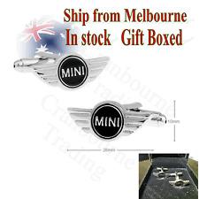 Rhodium Plated BMW Mini Cooper car Logo Cufflinks (Gift Boxed)