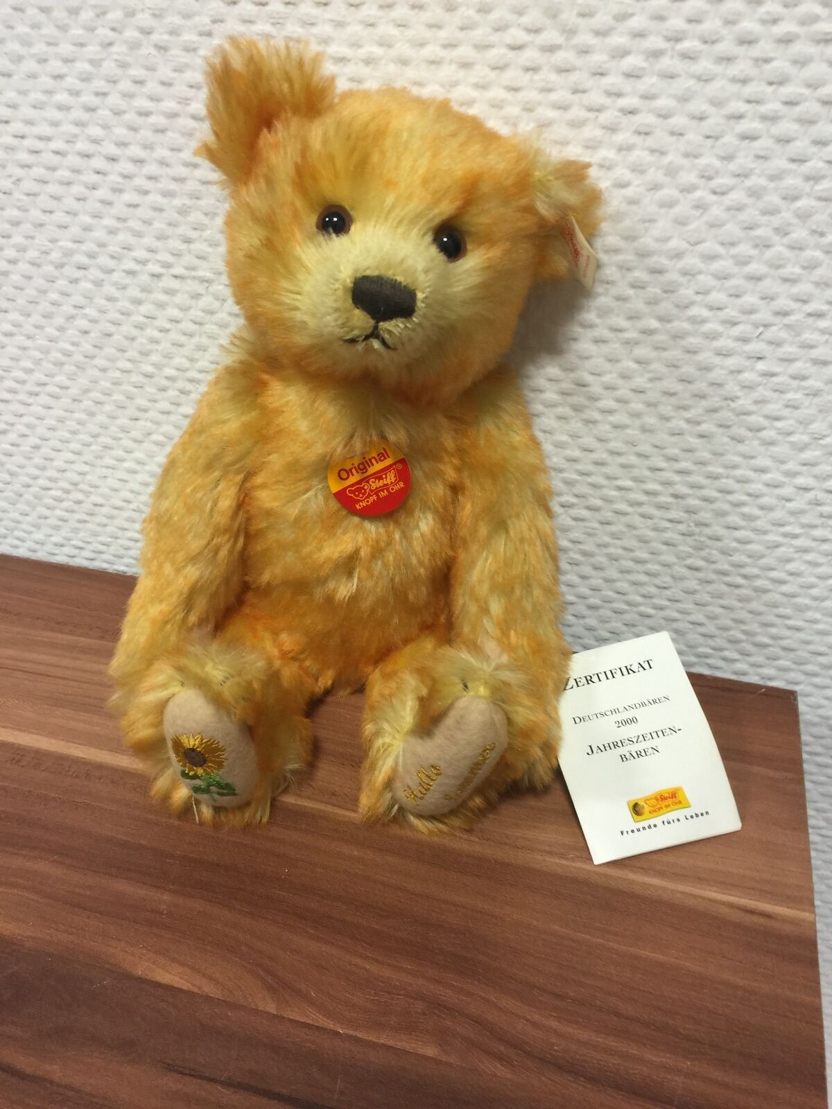 Steiff Teddy Bear 670459 Jahreszeitenbär Summer 30 cm  Never Never Never Unpacked e94