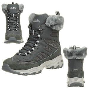 Lites Femmes Chalet D' D'hiver Doublé Bottes Skechers Chaussures Uqa5SwS
