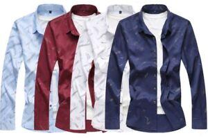 Men-039-s-Fashion-Large-Size-Long-Sleeved-Shirt