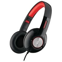 iHome iB45BC Black Wired On-Ear Foldable Adjustable Headphones with Travel Pouch