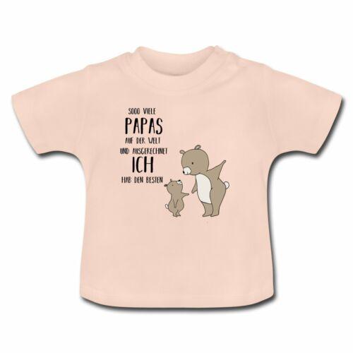 Vatertag Ich Hab Den Besten Papa Bär Baby T-Shirt