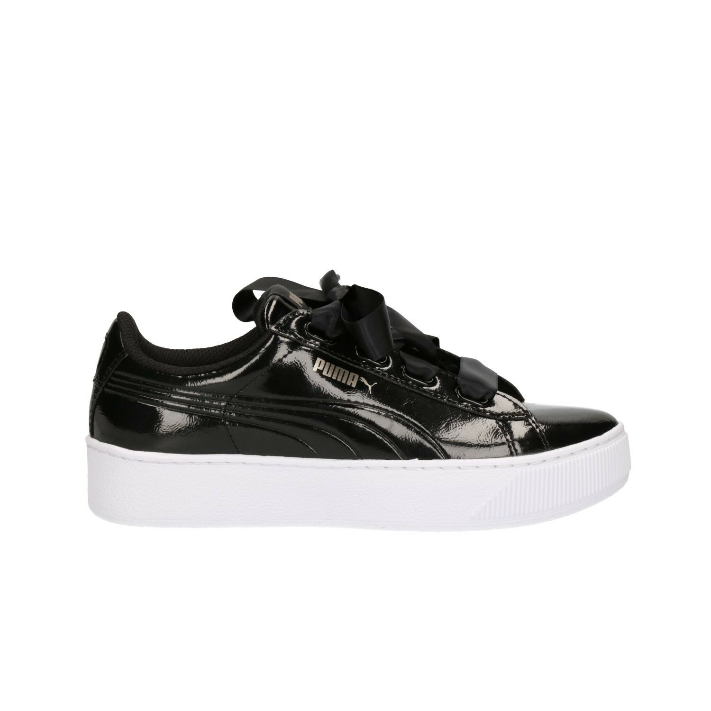 PUMA Vikky Platform ribbon nero scarpe da ginnastica scarpe donna ragazza mod. 366419-01
