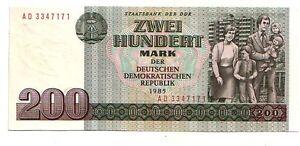 Germania-Democratica-DDR-200-marchi-1985-FDS-UNC-pick-32-lotto-3647