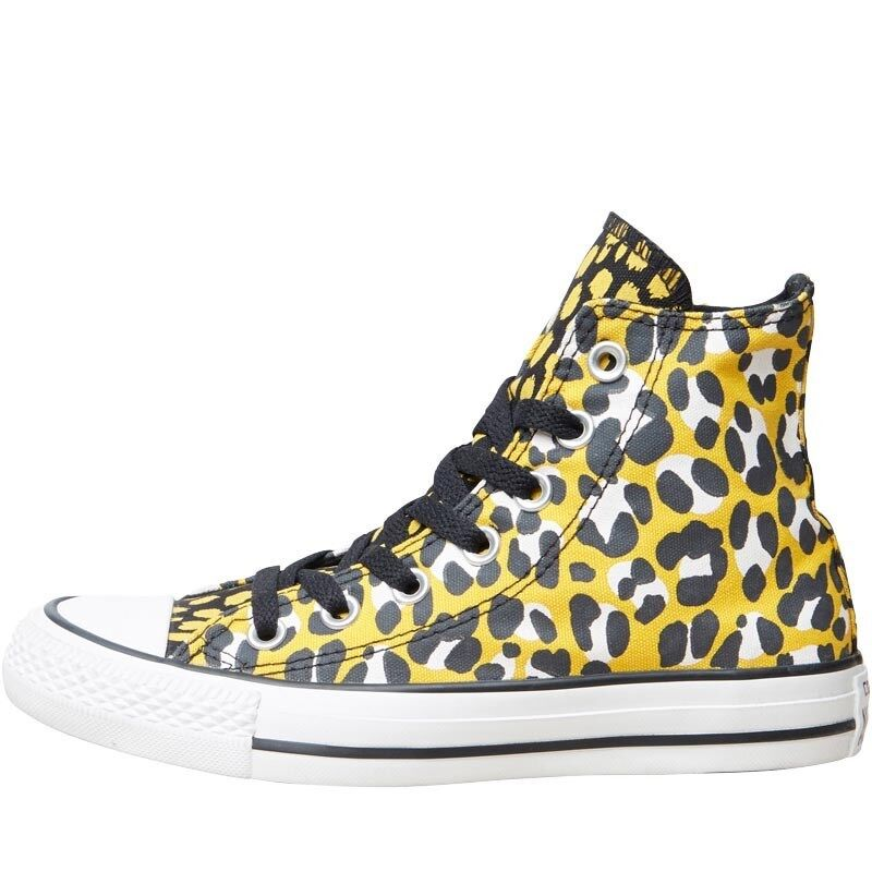 CONVERSE Damenschuhe CT ALL STAR HI LEOPARD TRAINERS - YELLOW/BLACK BNIB - SIZE 3 - BNIB YELLOW/BLACK 531cfa
