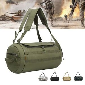 Tactical-Military-Duffel-Bag-Roll-Round-Duffle-Waterproof-Travel-Carry-Luggage