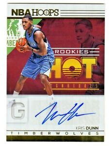 2016-17-Hoops-HOT-SIGNATURES-ROOKIES-AUTOGRAPH-4-KRIS-DUNN-RC-Rookie-AUTO