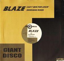 "BLAZE can't win for losin' LICT 004 uk republic 1988 12"" PS EX/EX"