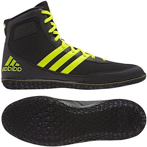 Adidas matte schuhe, zauberer. 3 männer ringen schuhe, matte schwarze / neon - gelb, s77969, neuer! dd804f