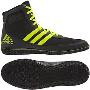Adidas Mat Wizard.3 MEN'S Wrestling Shoes, Black-Neon Yellow ...