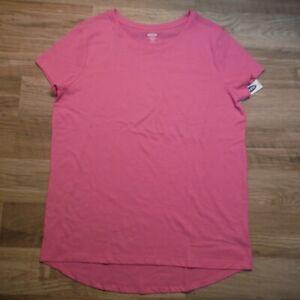 Old-Navy-girls-Pink-Knit-Scoop-Neck-Short-sleeve-Tee-shirt-14-pus-XL