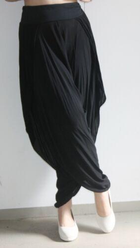Haremhose Pump pantalones pluderhose verano pantalones Palazzo lateral abierta