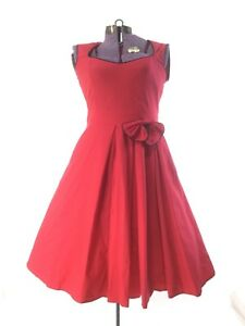 f18fbd34e22 Image is loading Red-vintage-50s-dress-costume-large-rockabilly-retro-