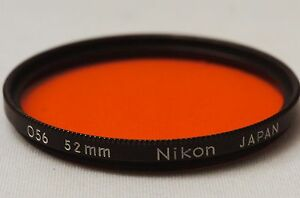 Ship-in-24-Hrs-Nikon-O56-Orange-52mm-Black-Rim-Lens-Filter