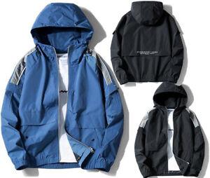 0bcd5f06dcf Image is loading Mens-Boys-Casual-Windbreak-Sports-Track-Jacket-Hooded-