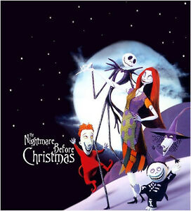 NIGHTMARE BEFORE CHRISTMAS JACK SALLY ***********T-SHIRT IRON ON ...