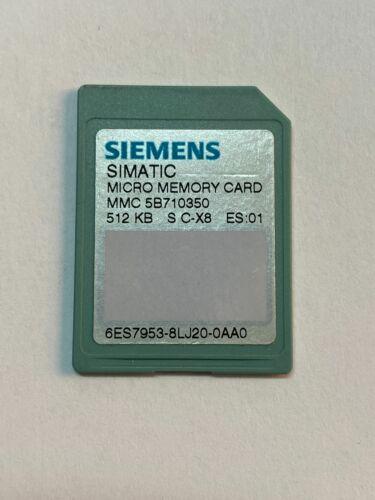 Siemens Simatic MMC 512kb 6es7953-8lj20-0aa0 6es7 953-8lj20-0aa0