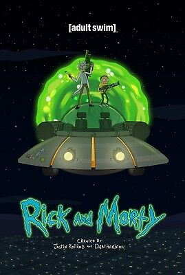 Rick and Morty Space Ship Poster Print T938 A4 A3 A2 A1 A0|