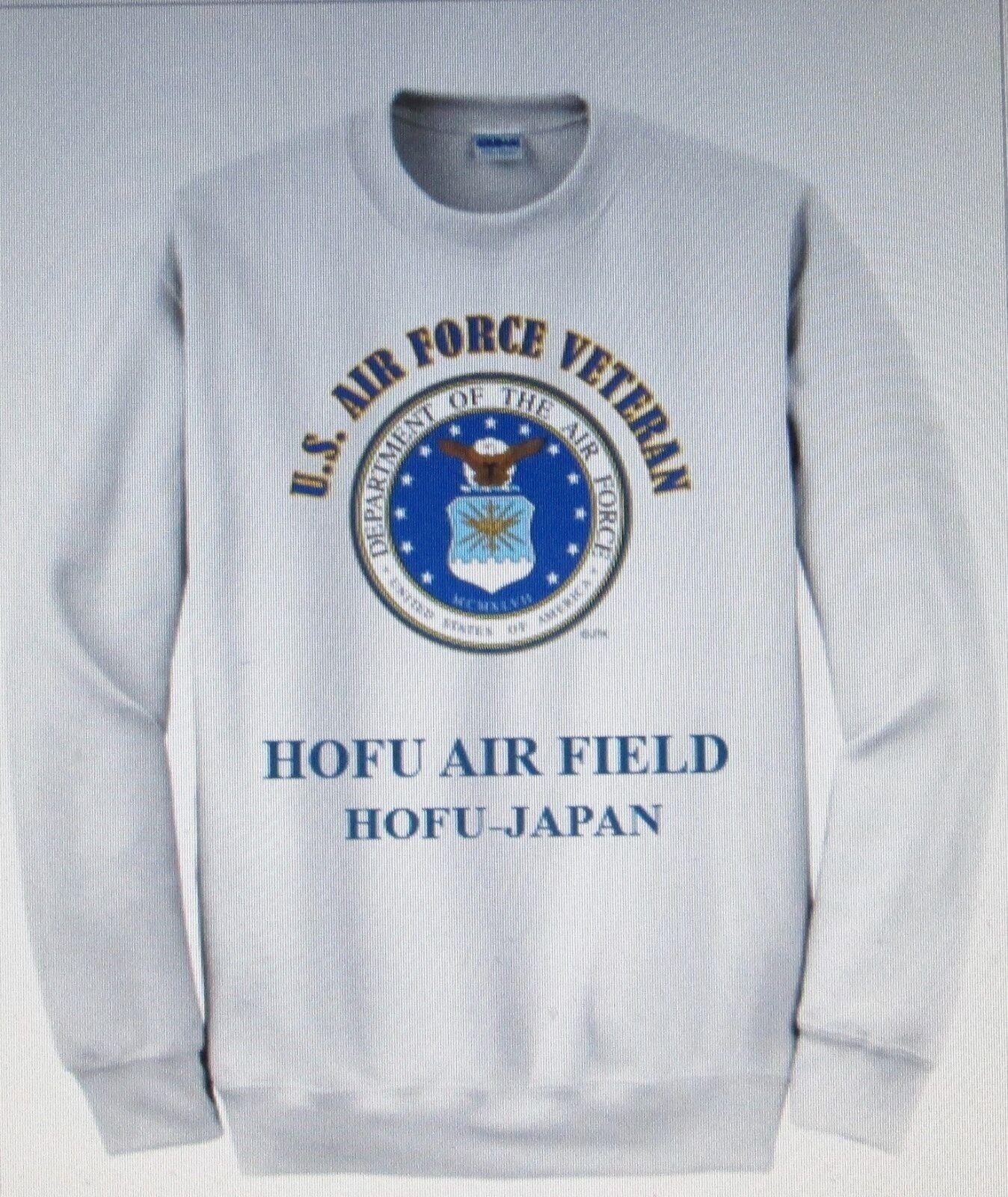 HOFU AIR FIELD  HOFU-JAPAN  AIR FORCE EMBLEM VETERAN SWEATSHIRT