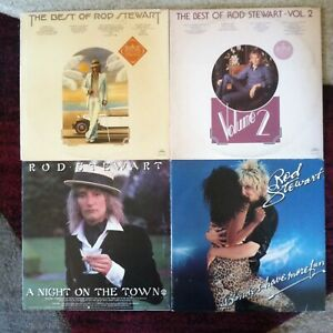 Rod Stewart vinyl LP lot- Best Of  - Vol. 2 - A Night On The Town - Blondes Have