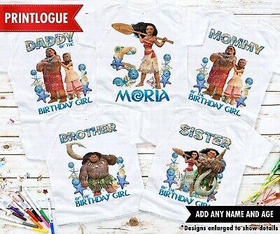moana maui family shirts Moana disney birthday shirt moana theme party shirts Disney moana maui moana matching shirts moana birthday tshirt