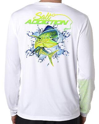 uv Salt Addiction Saltwater microfiber fishing long sleeve life t shirt 50