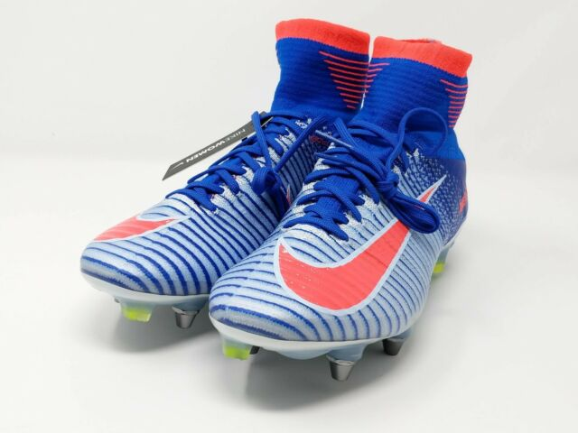 Women s Nike Mercurial Superfly V SGPRO Soccer Cleat 844229-464 Blue ... bb4d6b0857