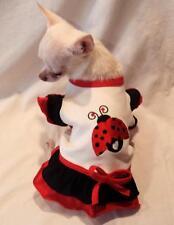 Lovie Ladybug ruffle dog dress/dog clothing/dog t-shirt/chihuahua ,s,m,l